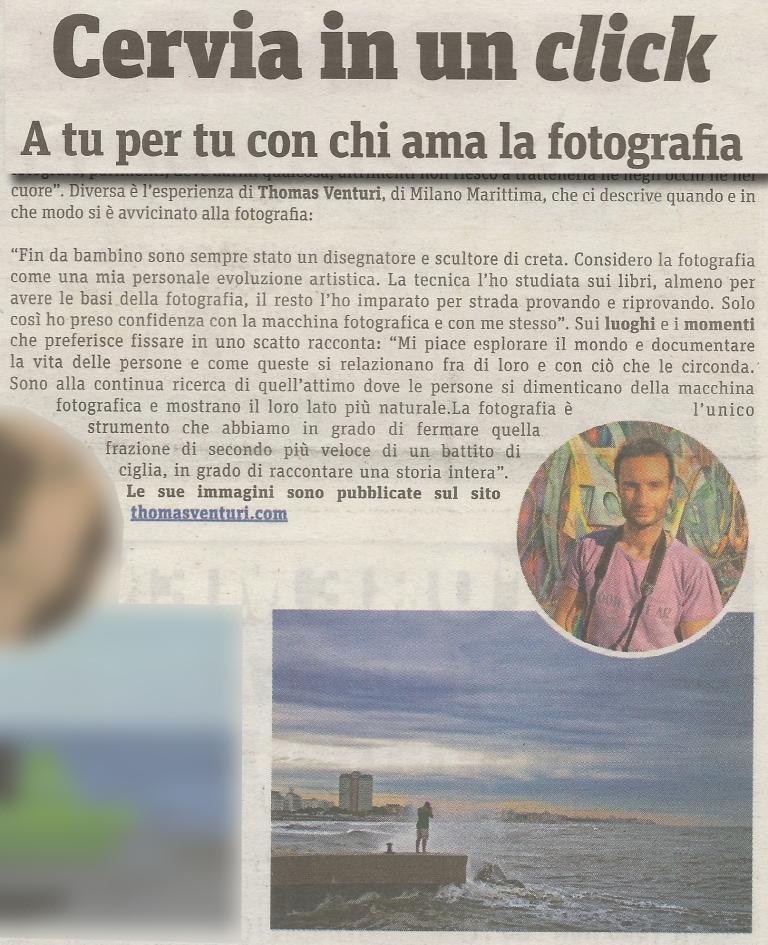 Mini intervista sul giornale di Cervia